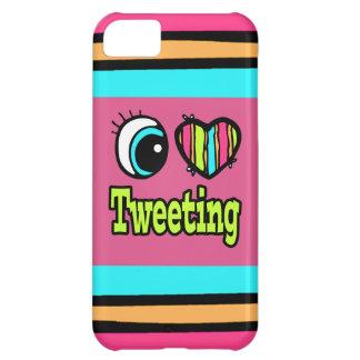 Amor brillante del corazón I del ojo que pia Funda Para iPhone 5C