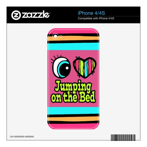 Amor brillante del corazón I del ojo que salta en  Calcomanías Para El iPhone 4S