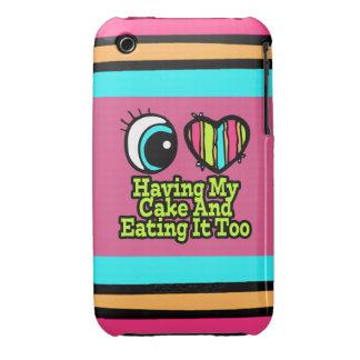 Amor brillante del corazón I del ojo que tiene mi Case-Mate iPhone 3 Fundas
