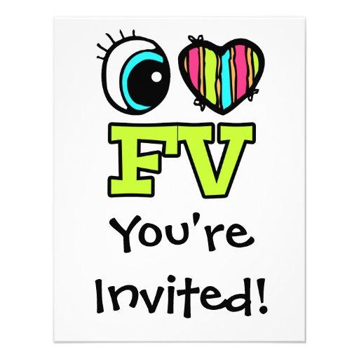 Amor brillante FV del corazón I del ojo Invitaciones Personalizada