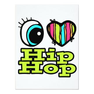 Amor brillante Hip Hop del corazón I del ojo Invitación 16,5 X 22,2 Cm