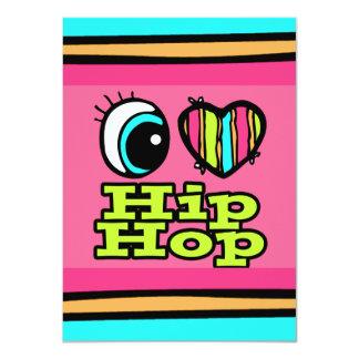 """Amor brillante Hip Hop del corazón I del ojo Invitación 4.5"""" X 6.25"""""""