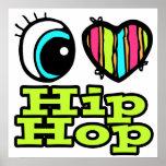 Amor brillante Hip Hop del corazón I del ojo Posters
