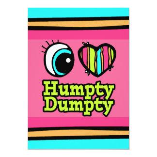 """Amor brillante Humpty Dumpty del corazón I del ojo Invitación 5"""" X 7"""""""