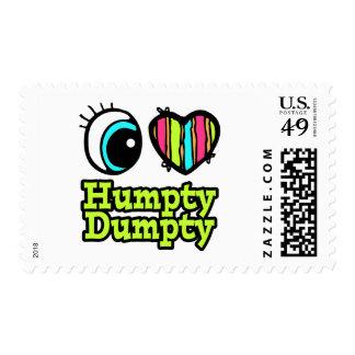 Amor brillante Humpty Dumpty del corazón I del ojo Sellos
