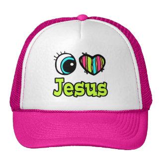 Amor brillante Jesús del corazón I del ojo Gorras