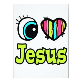"""Amor brillante Jesús del corazón I del ojo Invitación 6.5"""" X 8.75"""""""