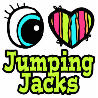 Amor brillante Jumping Jacks del corazón I del ojo Esculturas Fotográficas