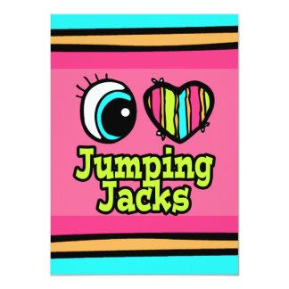 """Amor brillante Jumping Jacks del corazón I del ojo Invitación 4.5"""" X 6.25"""""""