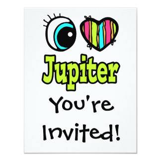 """Amor brillante Júpiter del corazón I del ojo Invitación 4.25"""" X 5.5"""""""