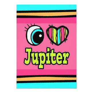 """Amor brillante Júpiter del corazón I del ojo Invitación 5"""" X 7"""""""