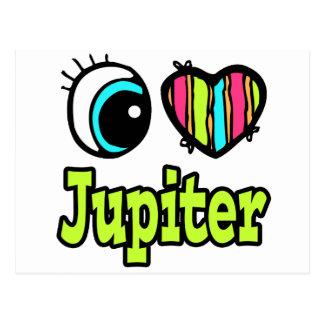 Amor brillante Júpiter del corazón I del ojo Tarjeta Postal