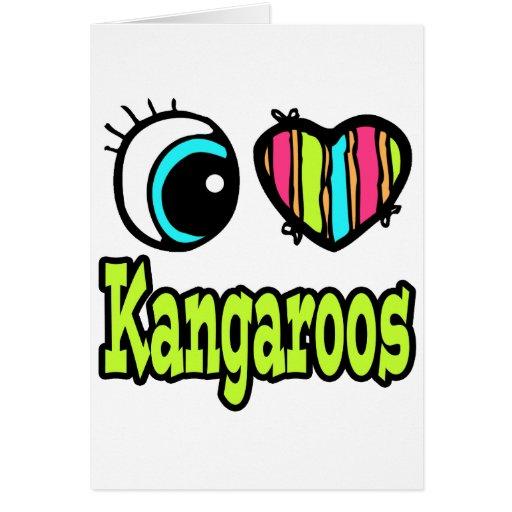 Amor brillante KangaROOS del corazón I del ojo Tarjeton