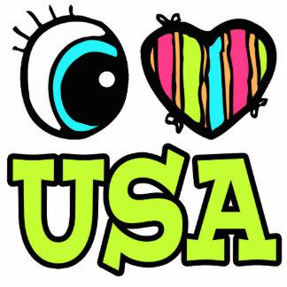 Amor brillante los E.E.U.U. del corazón I del ojo Escultura Fotografica