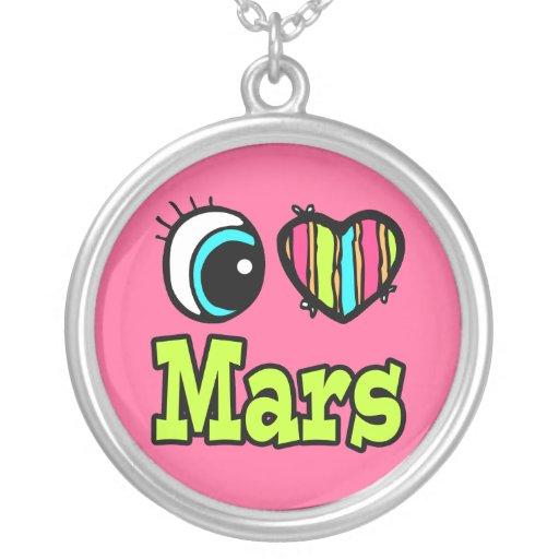 Amor brillante Marte del corazón I del ojo Grímpola