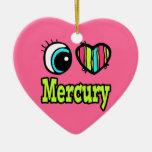 Amor brillante Mercury del corazón I del ojo Ornamentos De Reyes