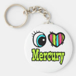 Amor brillante Mercury del corazón I del ojo Llavero Personalizado