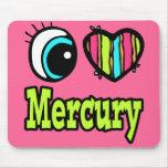 Amor brillante Mercury del corazón I del ojo Alfombrillas De Raton