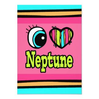 """Amor brillante Neptuno del corazón I del ojo Invitación 4.5"""" X 6.25"""""""