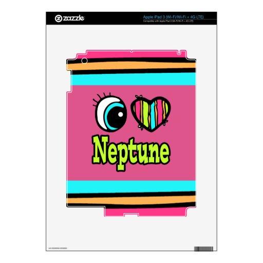 Amor brillante Neptuno del corazón I del ojo iPad 3 Pegatina Skin