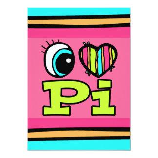 """Amor brillante pi del corazón I del ojo Invitación 4.5"""" X 6.25"""""""