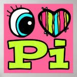 Amor brillante pi del corazón I del ojo Posters
