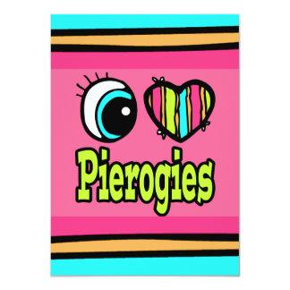 """Amor brillante Pierogies del corazón I del ojo Invitación 4.5"""" X 6.25"""""""