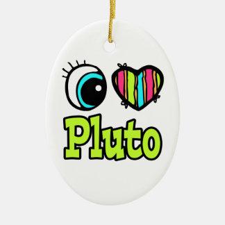 Amor brillante Plutón del corazón I del ojo Ornamentos De Navidad