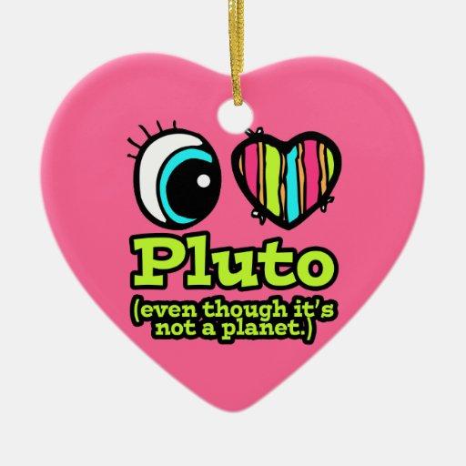 Amor brillante Plutón del corazón I del ojo Ornamento De Navidad