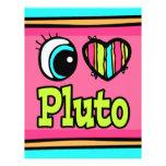 Amor brillante Plutón del corazón I del ojo Flyer A Todo Color