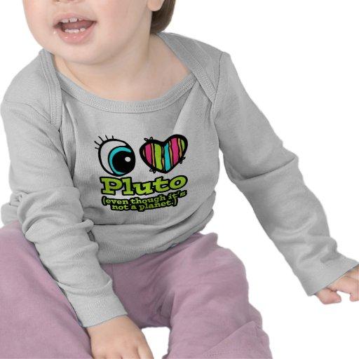 Amor brillante Plutón del corazón I del ojo Camiseta