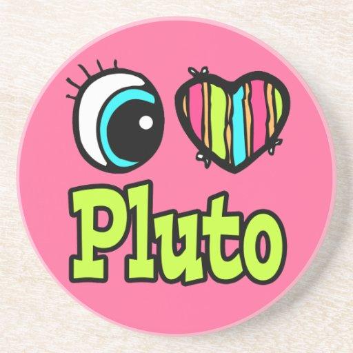 Amor brillante Plutón del corazón I del ojo Posavasos De Arenisca