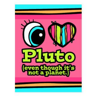 Amor brillante Plutón del corazón I del ojo Postal