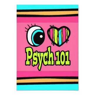 """Amor brillante Psych 101 del corazón I del ojo Invitación 4.5"""" X 6.25"""""""