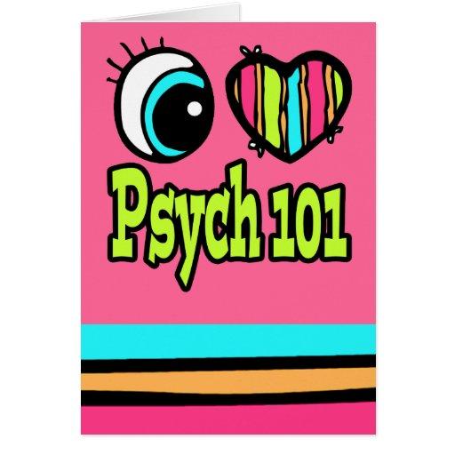 Amor brillante Psych 101 del corazón I del ojo Tarjeta De Felicitación