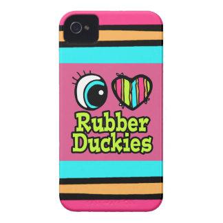 Amor brillante Ruber Duckies del corazón I del ojo iPhone 4 Case-Mate Cárcasas