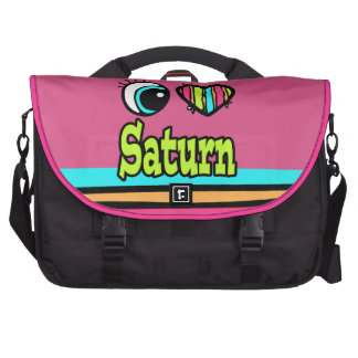 Amor brillante Saturn del corazón I del ojo Bolsas Para Portátil