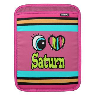 Amor brillante Saturn del corazón I del ojo Mangas De iPad
