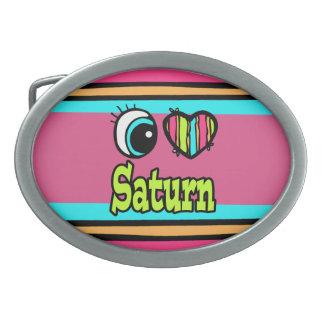Amor brillante Saturn del corazón I del ojo Hebillas De Cinturon