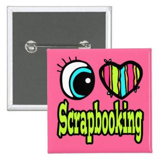 Amor brillante Scrapbooking del corazón I del ojo Pin