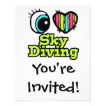 Amor brillante Skydiving del corazón I del ojo