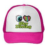 Amor brillante Skydiving del corazón I del ojo Gorros