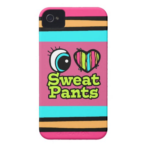Amor brillante Sweatpants del corazón I del ojo iPhone 4 Case-Mate Carcasas