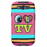 Amor brillante TV del corazón I del ojo Galaxy SIII Carcasas