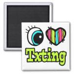 Amor brillante Txting del corazón I del ojo Iman De Frigorífico