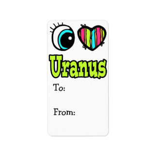 Amor brillante Urano del corazón I del ojo Etiqueta De Dirección