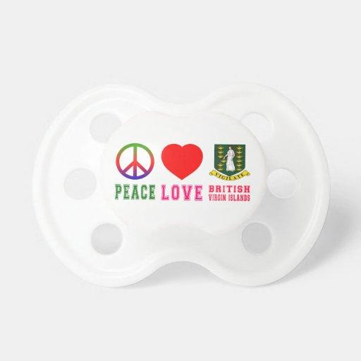 Amor British Virgin Islands de la paz Chupete De Bebé