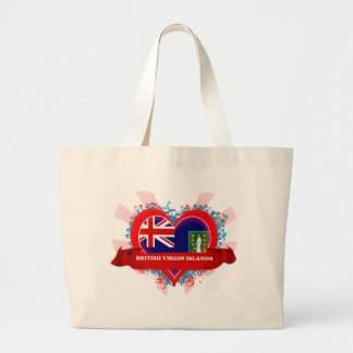 Amor British Virgin Islands del vintage I Bolsa Tela Grande