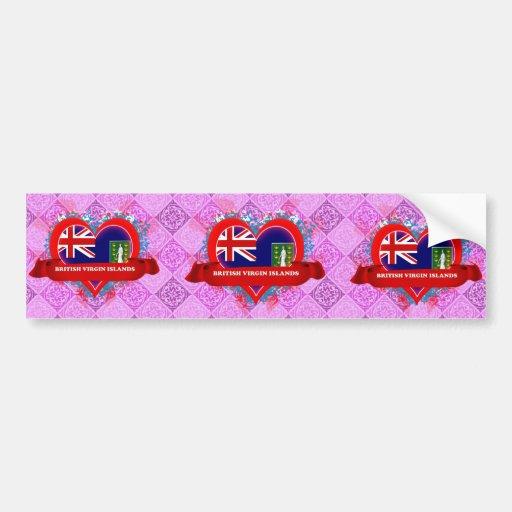 Amor British Virgin Islands del vintage I Pegatina Para Auto