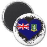 Amor British Virgin Islands del vintage I Imán